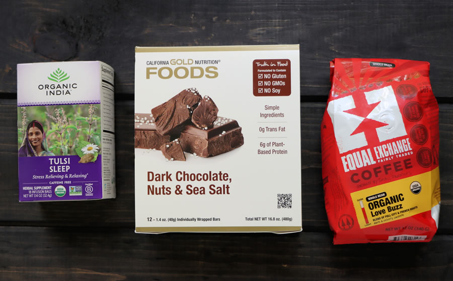 Chocolate, Tea and Coffee from iHerb for a Fathers Day Gift Basket
