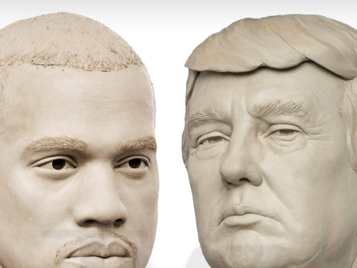 Madame Tussauds Creates Clay Kanye Presidential Head, Just in Case