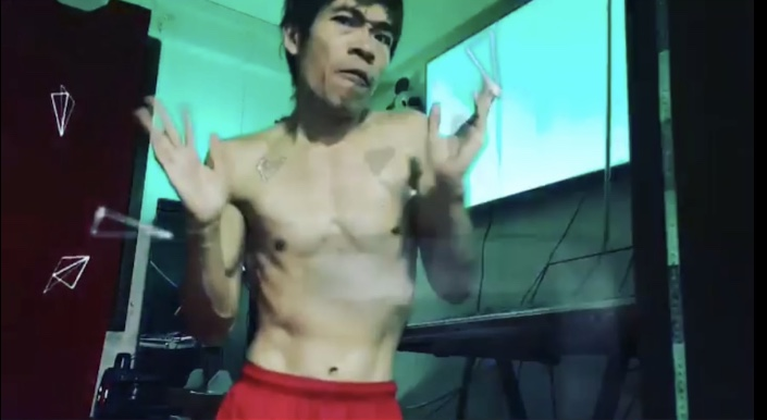 Steven Lim starts song and dances