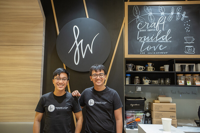 Foreword coffee roasters co-founders nadi chan and lim wei jie