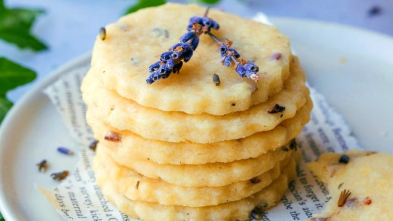 Light & Buttery Lavender Cookies