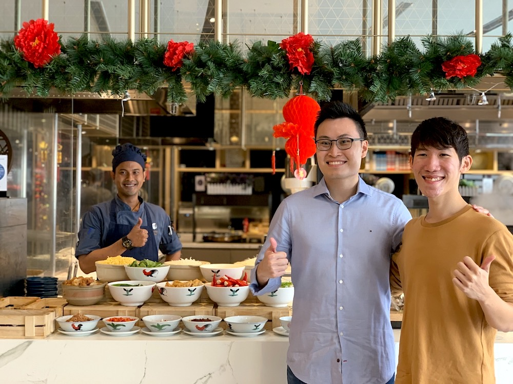 Kenneth Ham and Preston Wong treat co-founders