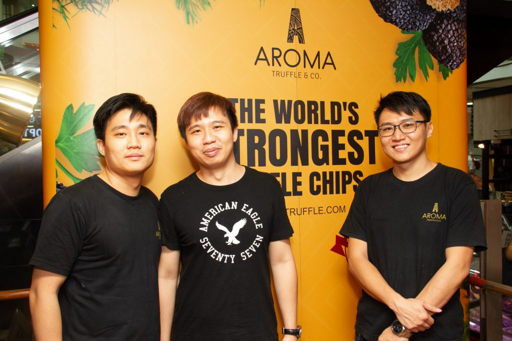 Kayson, Kenny and Johnathan Chan founders of aromatic truffles