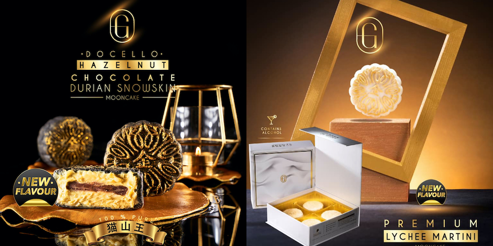 Moon cakes Docello Hazelnut MSW and Lychee Martini Golden Moments