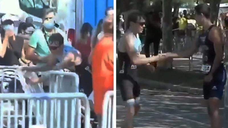 Spanish Triathlete Allows Competitor to Beat Him at Last Minute