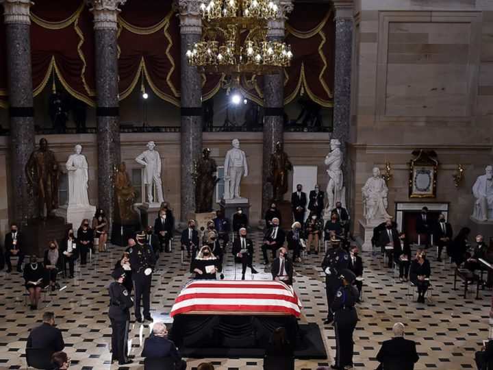 Ruth Bader Ginsburg Makes History, First Woman to Lie in State at Capitol