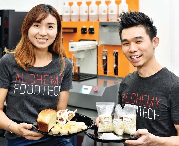 Verleen Goh and Alan Phua, founders of foodtech alchemy