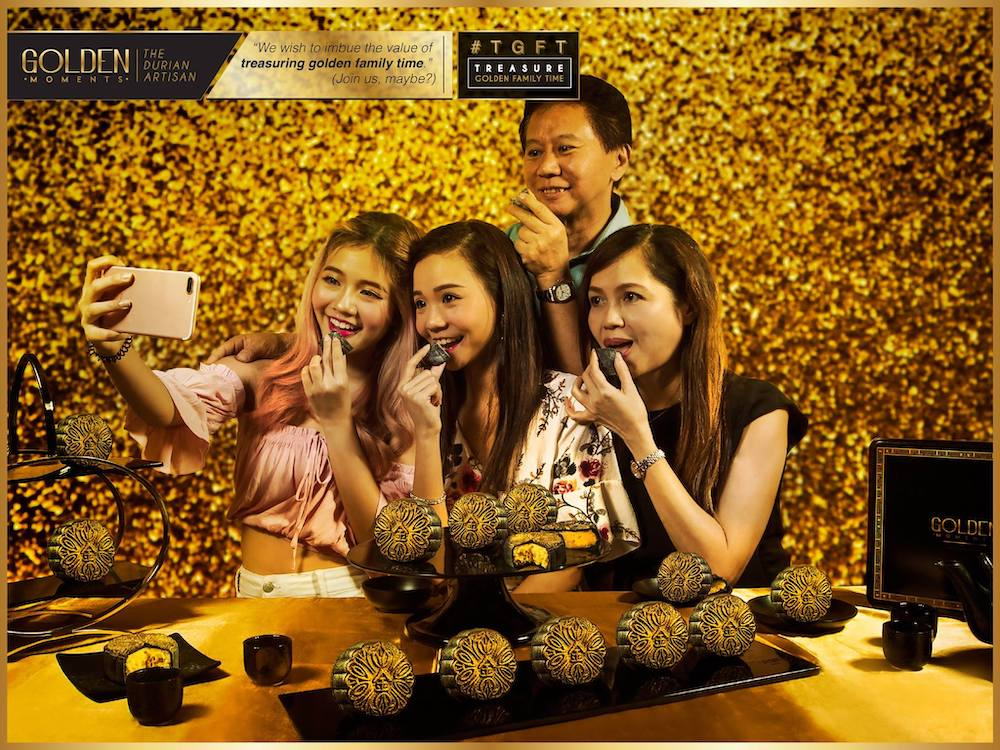 Golden Moments Durian Moon Cake