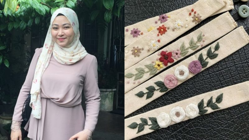 M'sian Startup That Sells Mask Connectors With Embroidery Art