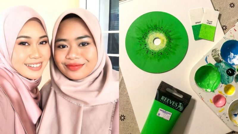 Sabahan Sisters Paint On Old CDs And Sell Them