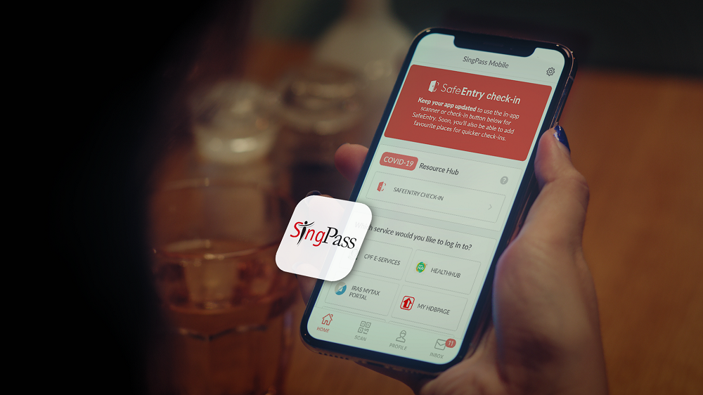 SafeEntry has been made very convenient with SingPass Mobile