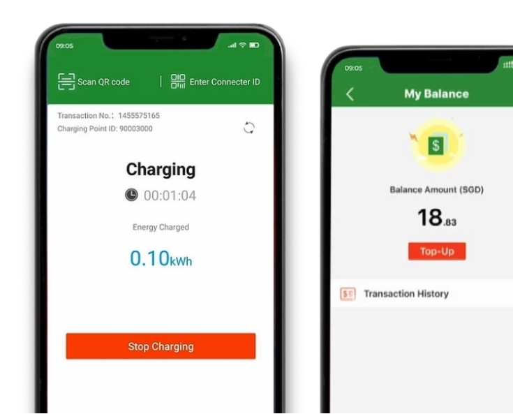 charge + mobile application