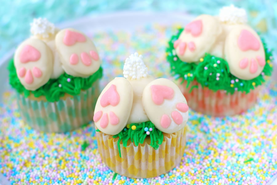 BUNNY BUTT CUPCAKES (LOW-SUGAR )