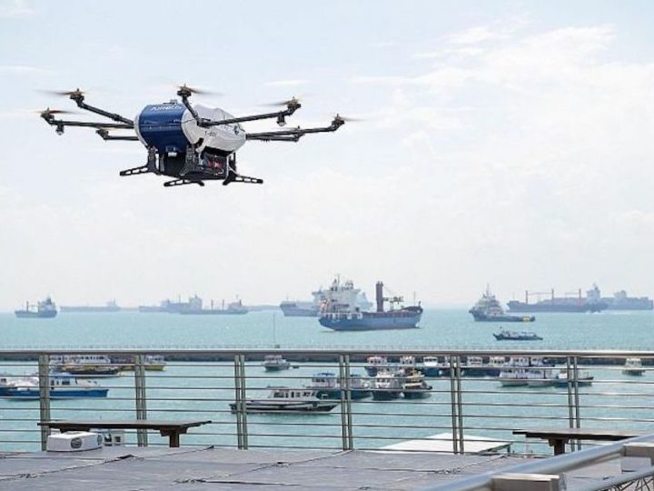 S'pore's First Maritime Drone Estate Conducts Drone Delivery Trials