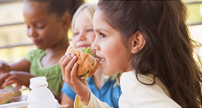 Americans Are Eating Less Healthily, Except at School