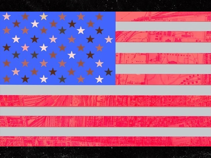 Macy Gray proposed a new American flag