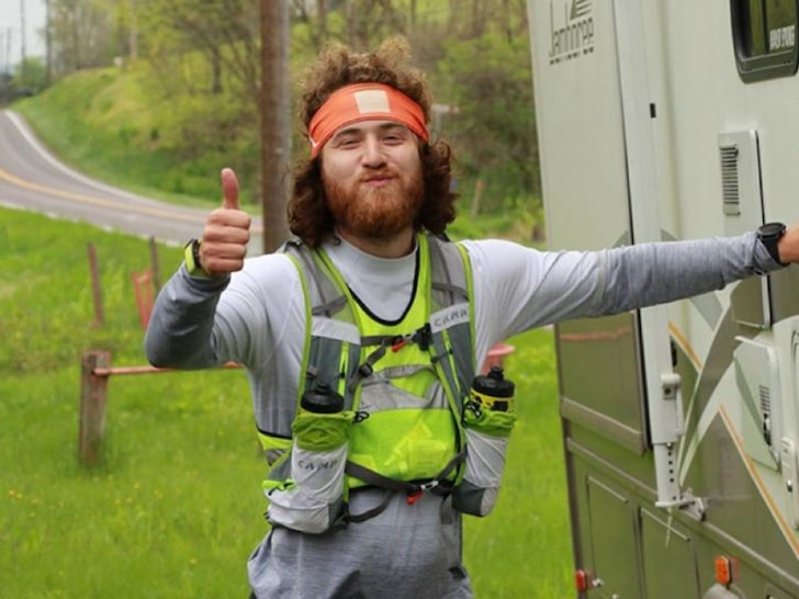 Mike Posner on the road