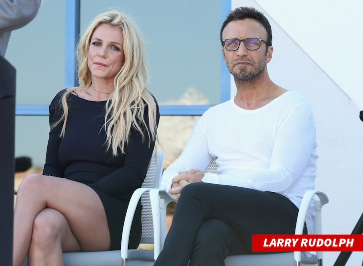 Larry Rudolph and Britney Spears