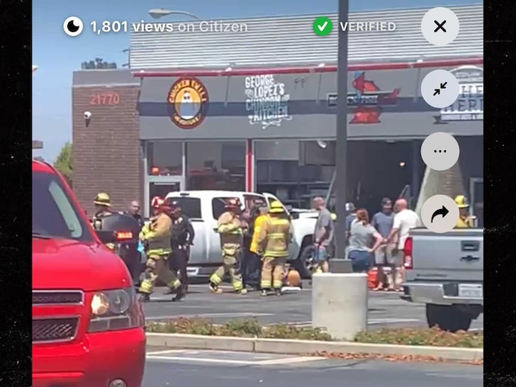 crash at the restaurant where george lopez was