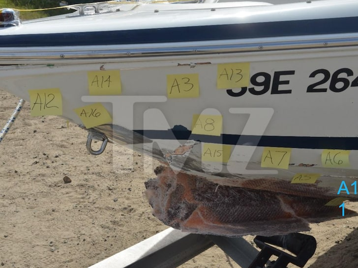 Damage from O'Leary's boat accident
