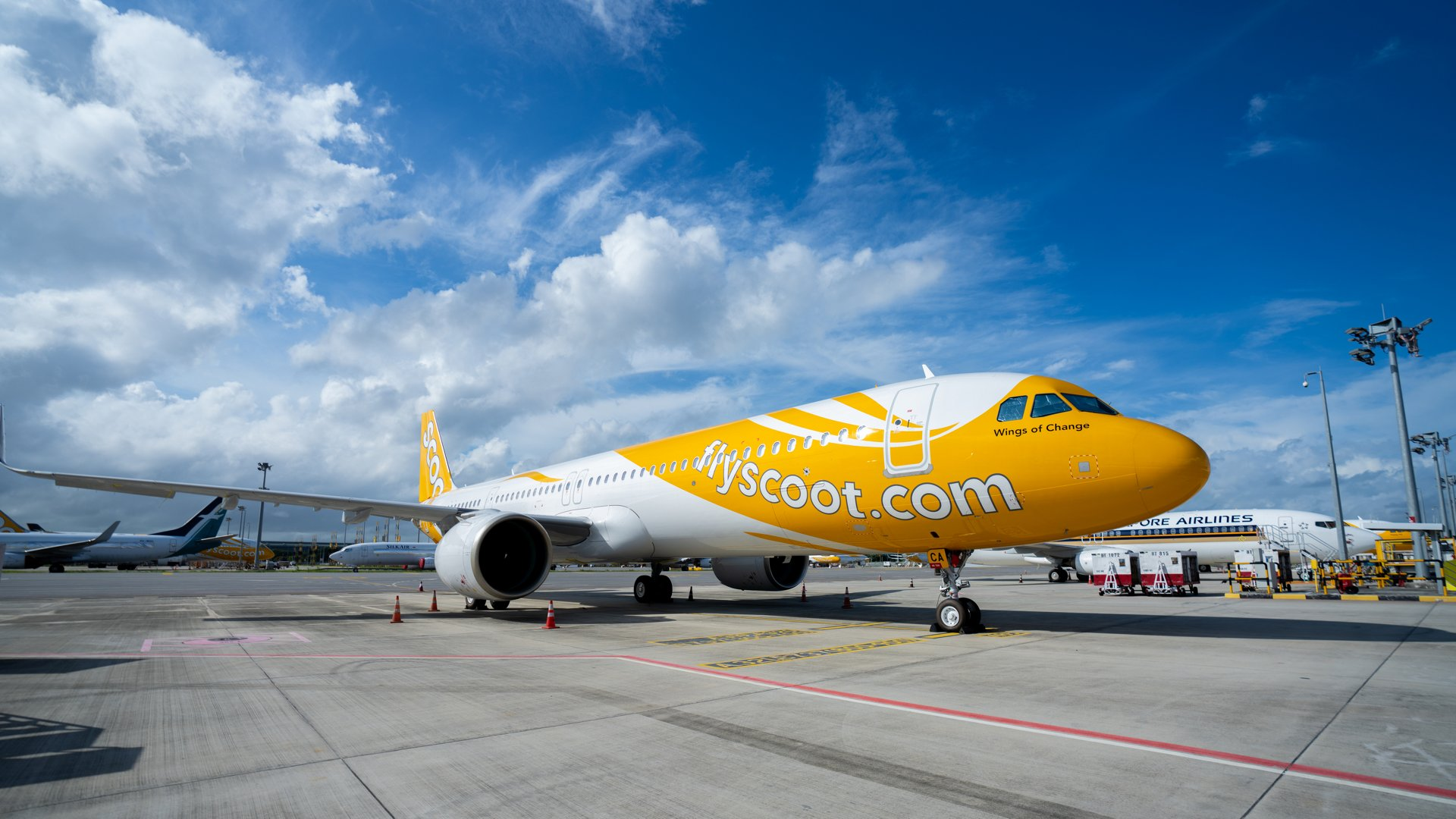 Scoot's 1st A321neo at Singapore Changi Airport