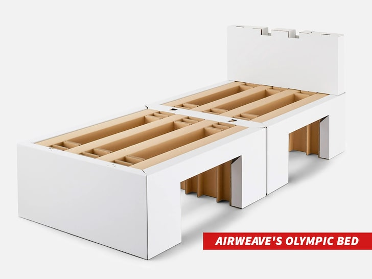 Cardboard beds at the Olympics