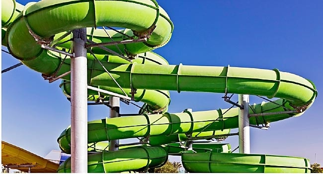 green water park pipe