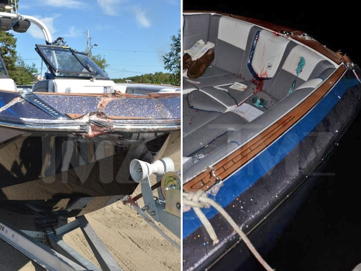 Damage to the Nautique boat