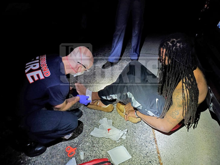 Richard Sherman and cops sustained bloody injuries in altercation
