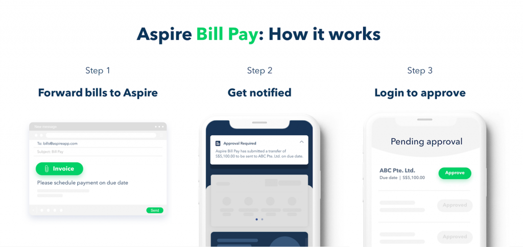 aspire to pay the bill